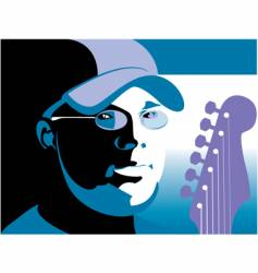 man with guitar vector image vector image