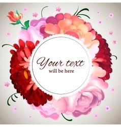 Wedding invitation Vintage card with garden vector image vector image