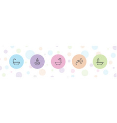 5 showering icons vector