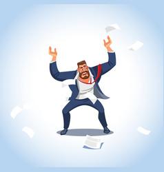 A boss under stress vector