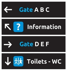 Aeroport signs and symbols1 vector