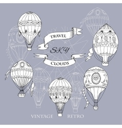 Air Balloons Backgr-15 vector image