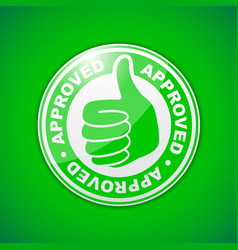 approved thumbs up icon vector image