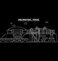 arlington silhouette skyline usa - arlington vector image