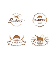 bakery and dessert logo sign template set vector image