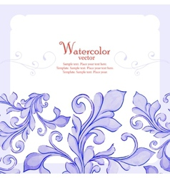 Barocco watercolor lace ornament vector