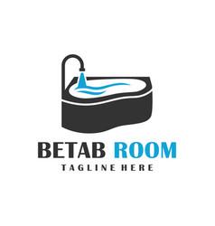 bathtub logo design vector image
