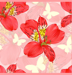 beautiful seamless background with red vector image