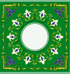 beautiful template for islamic arabic greeting vector image