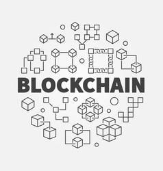 Blockchain concept block vector
