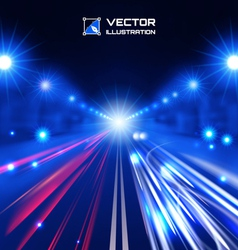 Blue tint night road vector