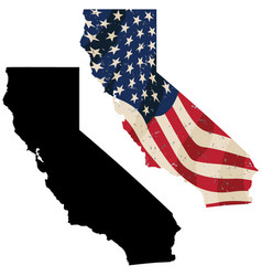 california with aged usa flag embedded vector image