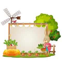 canvas frame template in the garden scene vector image