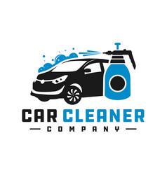 car cleaning liquid logo vector image