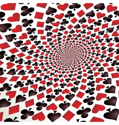 Card suit Hearts diamonds spades and clubs Playing vector
