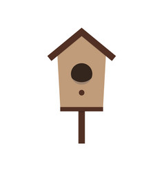 cartoon birdhouse on white vector image