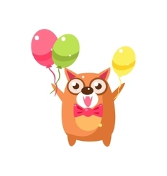 Cat Party Animal Icon vector