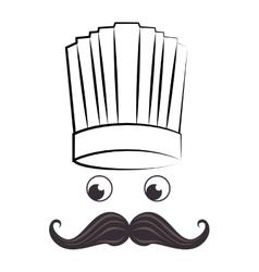 Chef funny cartoon face vector