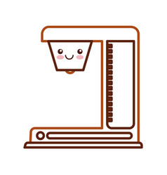 Coffee machine kawaii character vector
