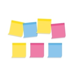Collection memo note-papers in various colors vector