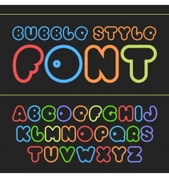 Colorful cartoon font Cute alphabet vector image