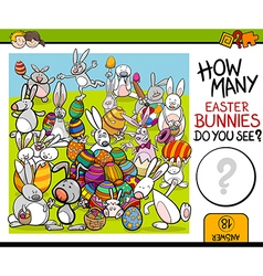 Counting task with easter bunny vector