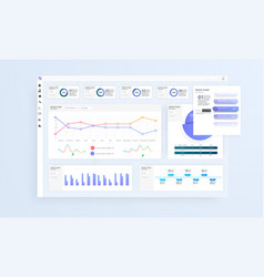 Data infographic application ui ux modern vector
