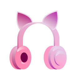 Earphone isolated vector