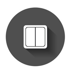 Electric light switch icon electric switch flat vector