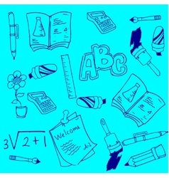Element school tool doodles vector