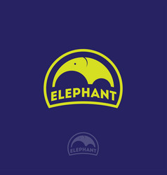 elephant logo kids emblems badge vector image
