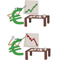 Euro crisis vector image