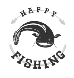 Fishing catfish vector image