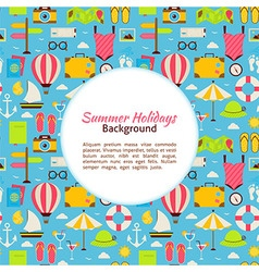 Flat Summer Holidays Background vector