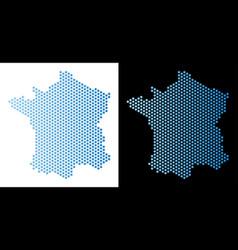 France map hex-tile scheme vector