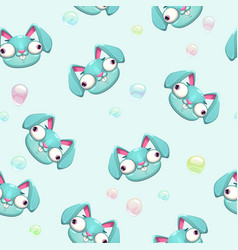 Funny childish seamless pattern vector