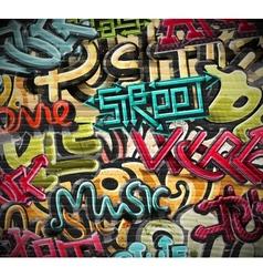 Graffiti grunge texture vector image vector image