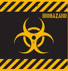 grunge biohazard background vector image