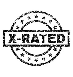 Grunge textured x-rated stamp seal vector