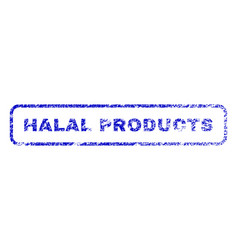 halal products rubber stamp vector image