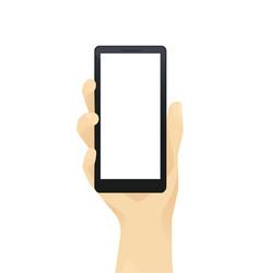 hand witn phone vector image