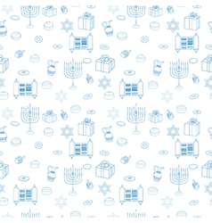 Happy hanukkah holiday seamless pattern background vector