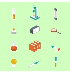 Icon isometric style Medical symbol collections vector image