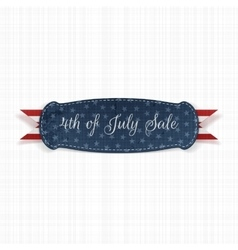 Independence Day 4th of July festive Card Template vector image