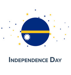 Independence day of nauru patriotic banner vector