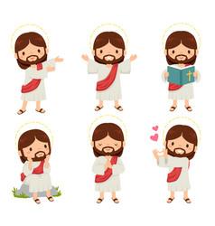 Jesus clipart set vector