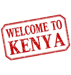 Kenya - welcome red vintage isolated label vector