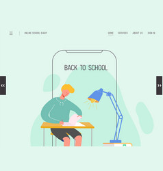 landing page template back to school vector image