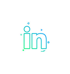 Linkedin icon design vector