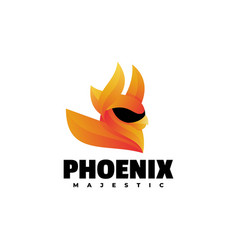 logo phoenix gradient colorful style vector image
